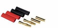 GOLD 4mm CONNECTORS (2 SETS )