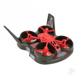 Flight Lab Toys HoverCross 2-in-1 Ready-to-Fly Quadcopter and Hovercraft, Red