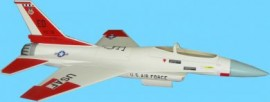 Flyeaglejet ARF PLUS F-16 (1/8) (THUNDER BIRD)